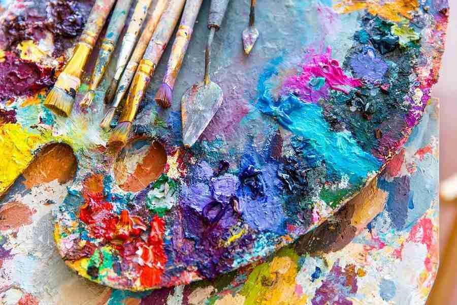 palette creativa di colori