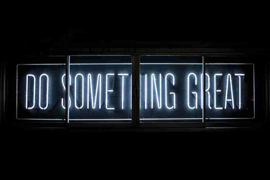 Energia e motivazione per fare qualcosa di grande